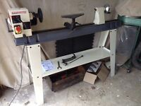 Axminster AWVSL 1000 Variable Speed rotating head woodturning wood lathe