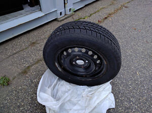 Winter tires (195/65R15) with steel Rims