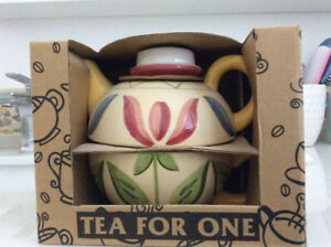 Tea for one gift set (teapot with cup set) perfect for tea lover