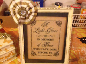 School reunion memory book and frame