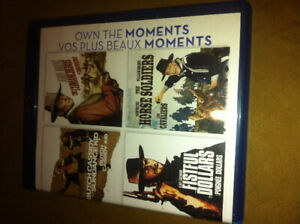 4 movies combo ,butch cassidy ,fistfull of dollars,etBlu ray