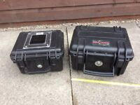 Explorer and Peli waterproof cases