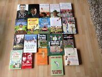 Twenty Various cricket books