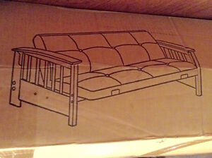 Brand new futon wooden/metal frame