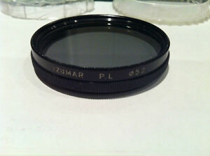 Lens Filters:  49mm PL, 52mm UV CPL, 55mm  FL, UV etc. 58mm PL