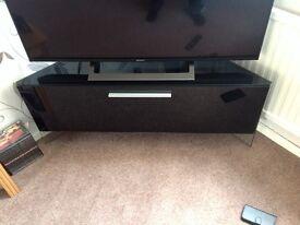 TV CORNER UNIT Beam Thru High Gloss Piano Black - Antares model good condition