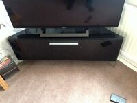 TV CORNER UNIT Beam Thru High Gloss Piano Black - Antares model good condition