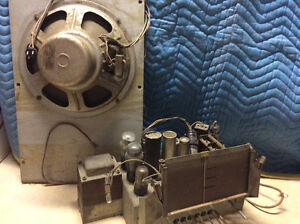 Antique Marconi radio parts