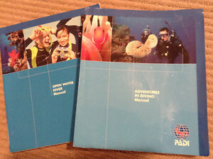 PADI Open Water & Advanced text books