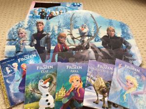 Disney Frozen foam puzzle and 5 board books
