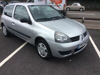 2007 Renault Clio 1.2 campus-65,000 miles-December 16 mot-great value-ideal first car