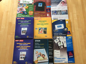 Assorted photo paper/labels
