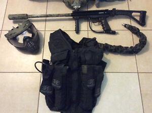 Paintball gun and gear