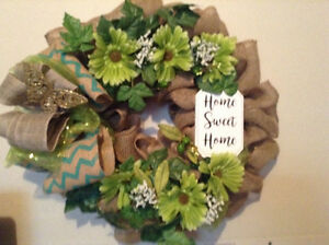 Brand New Large Burlap Wreath
