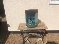 Hexagonal aquarium fish tank set up