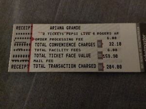 2 Ariana Grande and Little Mix concert tickets