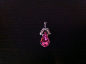 Pink Teardrop Pendant