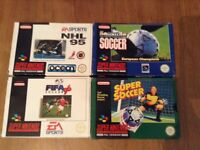 SNES Game Bundle x 4 SUPER NINTENDO Joblot