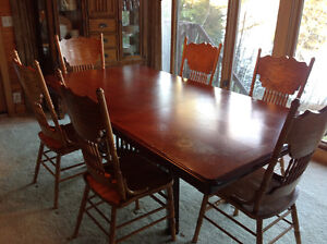 Table and seven chairs