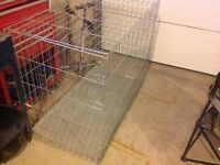 Galvanized steel XL Collapsible Dog Cage. Like new. $100 firm