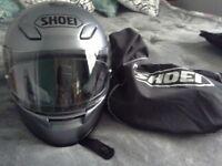 Motorcycle helmet and bag
