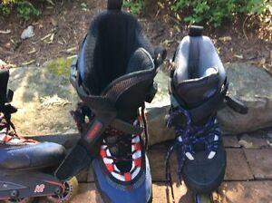 2 paires de patins roues alignées 1 homme et 1 femme +protecteur Saguenay Saguenay-Lac-Saint-Jean image 2