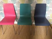John Lewis wooden chairs x3 good condition