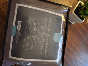 Brand new Sofa slipcover purchased from Surefit - 3 piece set London Ontario image 2