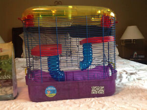 Small critter cage and accessories
