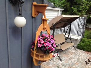 Hanging basket or planter container
