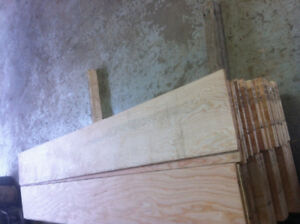 "1/2"" plywood new left over cut offs"
