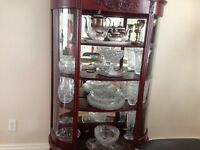 European Antique curio cabinet, Must Sell