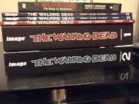 The Walking Dead compendiums 1 and 2 and volumes 1, 2, 3, comics