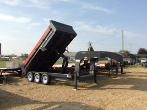 Sale: 2017 Precision 7x16 gooseneck triple axle dump trailer