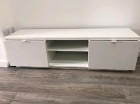 Gloss White Floor TV Stand