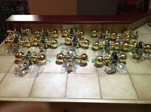 Assortment of Brass door knobs