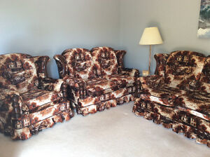 Couch, Love seat and swivel rocker