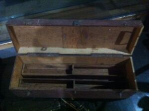 Two antique tool boxes