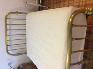 Antique brass double  bed