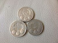 Collectable one pound coins cardiff London Belfast £1 city set rare