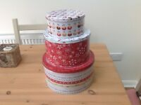 Christmas storage tins