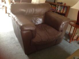Good quality real leather chairs