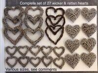 Wicker hearts