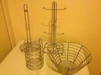 Utensils Holder, Fruit Bowl, Mug Stand & Kitchen Roll Holder