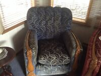 Antique couch and 2 chairs and buffett