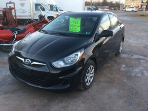 2012 Hyundai Accent sedan GL 6 speed 153 kms Rust Free $3999.00