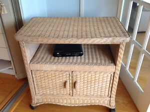 Wicker TV Cabinet