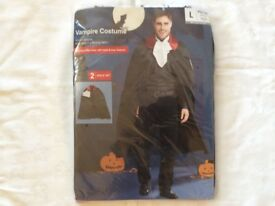 Men's Vampire Costume For Halloween Size Large