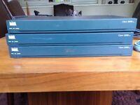 Cisco 2600 router x3 CCNA starter kit