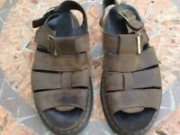 Dr Martens Sandals, Brown, Men's, Size 11 (44) Flash Wyoming